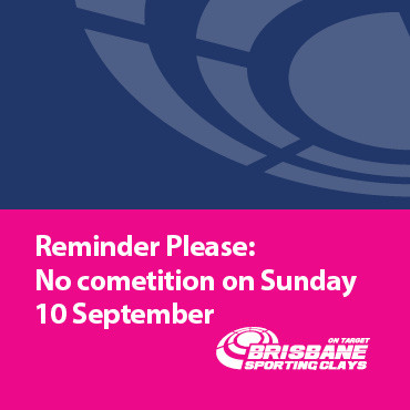 No Competition on Sunday 10 September 17