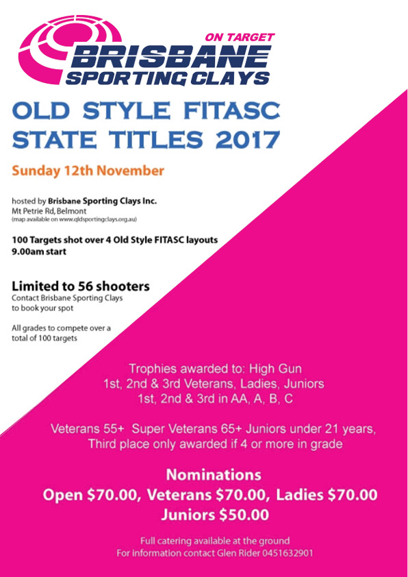 old style fitasc state titles 2017